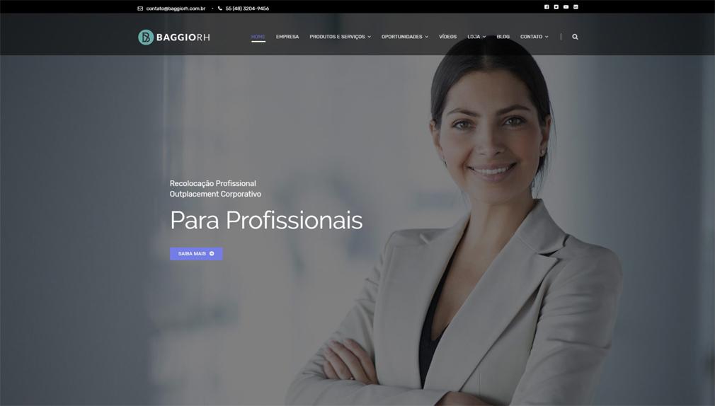 GTWA e-Commerce Web Design Curitiba Portfólio Baggio RH