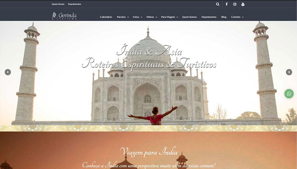GTWA Web Design Curitiba Portfólio Govinda Turismo
