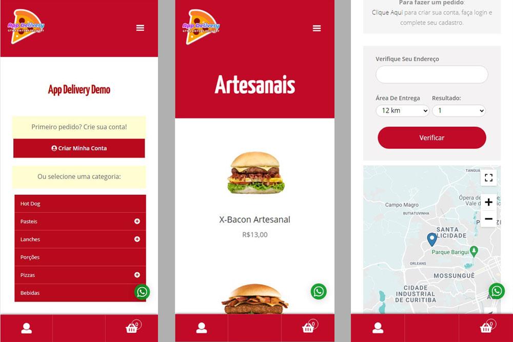 Sistema Delivery Pizzarias Lanchonetes Curitiba Brasil