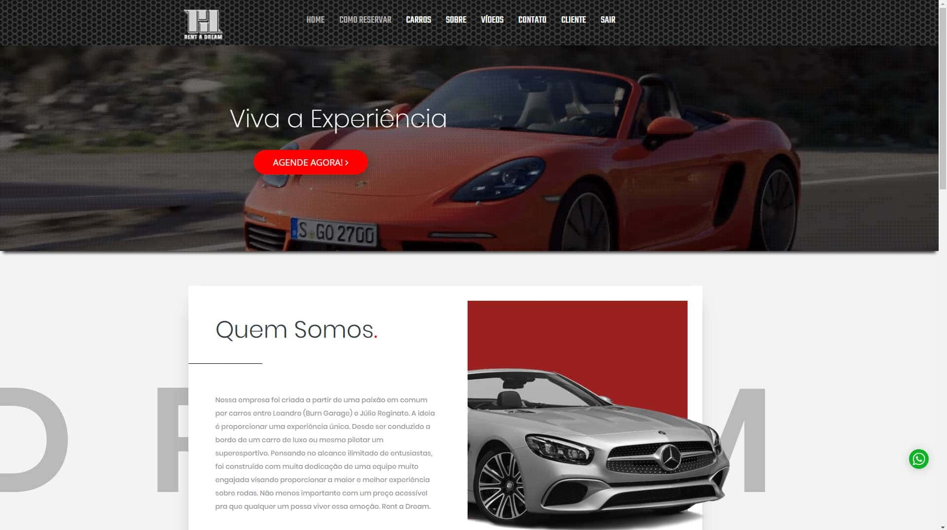 Gtwa E Commerce Web Design Portfólio Rent A Dream Aluguel Carros Esportivos 00 Min